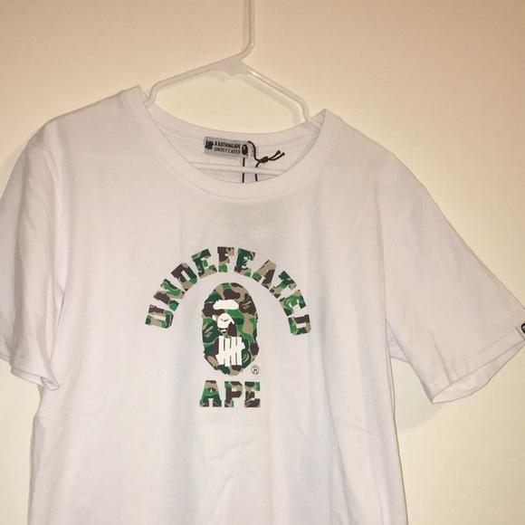 154313c23 Bape Shirts | X Undefeated Abc College Tee Greenwhite | Poshmark